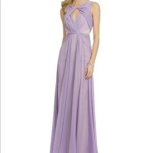Lavender Purple Chiffon Badgley Mischka Dress Gown